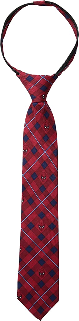 Cufflinks Inc. Spiderman Plaid Tie (Toddler/Little Kids)