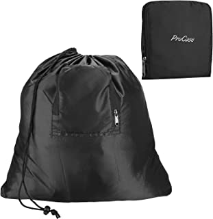 ProCase Ultra Huge Travel Laundry Bag, Foldable Compressible Storage Pouch for Dirty Clothes Packing Organizer Bag During Trip(53.85 * 56.90 cm) –Black