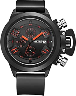 Megir Sport Watch for Men, Silicone Band, Chronograph, M-2002