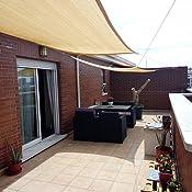 AXT SHADE Toldo Vela de Sombra Rectangular 3 x 4 m ...
