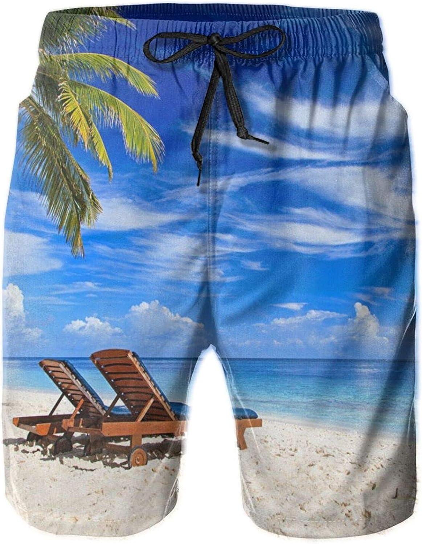 Men's 100% Charlotte Mall Seattle Mall Polyester Sky Summer Fashion Beachwear B Tropics Sea