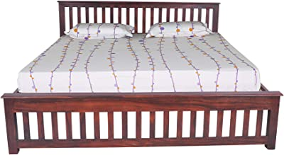 Pai Furniture Brown Queen Bed