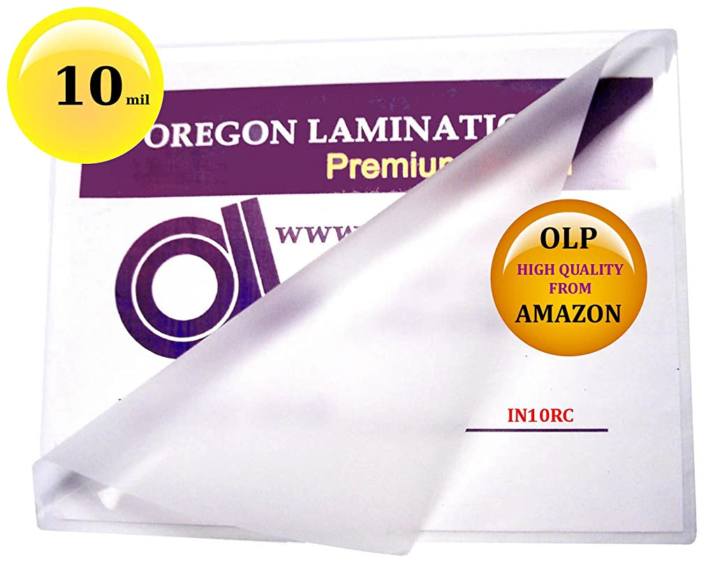 10 Mil 6 x 9 Hot Laminating Pouches [Pack of 50] Clear