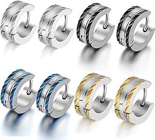 Ogquaton Boucles d oreilles sans aimants /à la mode Boucles d  oreilles rondes pour aimants