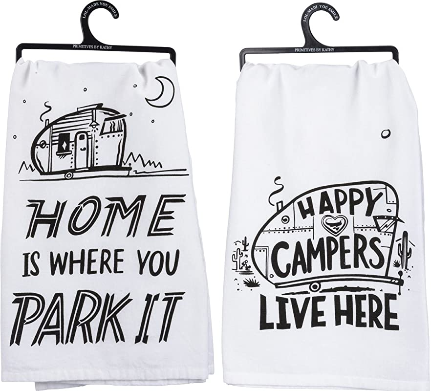 Primitives By Kathy Camper Towel Bundle Park It And Happy Campers