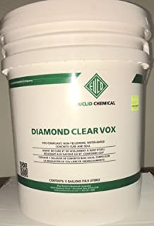 EUCLID DIAMOND CLEAR VOX, 5 GAL, WATER-BASED CONCRETE CURE & SEAL