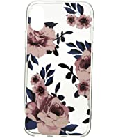 Kate Spade New York - Jeweled Prairie Rose Clear iPhone Case for iPhone X