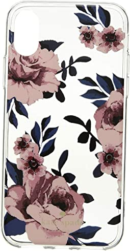 Jeweled Prairie Rose Clear iPhone Case for iPhone X
