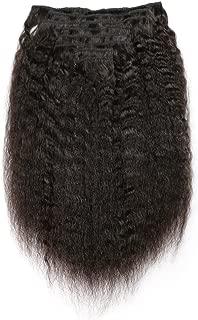 KeLang Hair Kinky Straight Clip In Human Hair Extensions Clip Ins Human Hair 9A Italian Coarse Yaki Brazilian Virgin Hair Clip In Extension 7pcs/lot,120gram/set 20inch