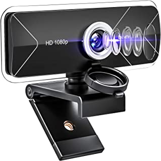 Webcam with Microphone, Wide View Angle 30 FPS Full HD Webcam for Streaming Online Gaming Class...