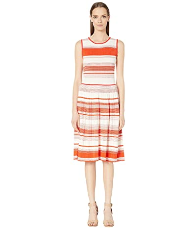 Kate Spade New York Striped Sweater Dress (Traffic Orange) Women