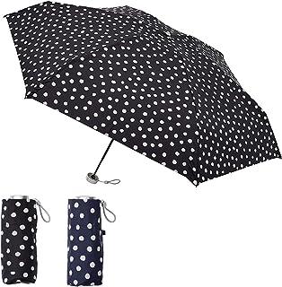 [ムーンバット] urawaza(ウラワザ) 折りたたみ傘 ドット 5段ミニ 50cm 【3秒で折りたためる傘】【軽量 グラスファイバー骨 UV 晴雨兼用 テフロン 超撥水 コンパクト】