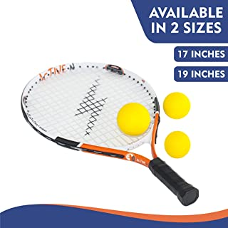 4 active n Tennis Racket for Kids, Fun for Children Ages 2-8, Includes Kids Tennis Racket and 3 Foam Tennis Balls