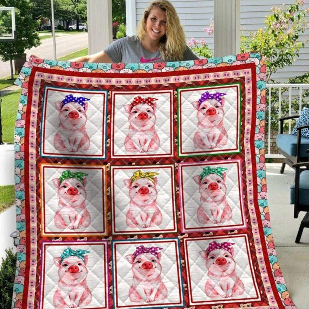 Personalized Pig Bandana Big Quilt Soft Sets In a popularity Denver Mall f Comfortable