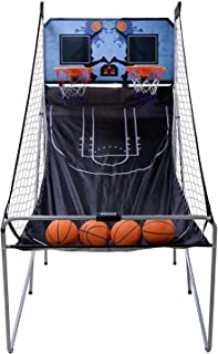 Saturnpower Shot Creator Indoor Basketball Arcade Game Foldable Electronic Double Shootout Sport Game Official Home Dual Shot Basketball 2 Player with 4 Balls