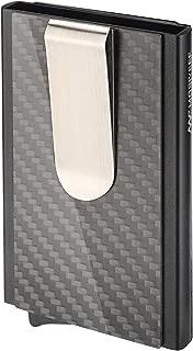 Mosiyeef RFID Blocking Minimalist Front Pocket Wallet-Compact Credit Card Holder Wallet-Carbon Fiber Money Clip Wallet