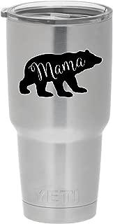 Cups drinkware tumbler sticker - Mama bear sticker - Cute inspirational cool sticker decal (Black)