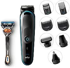 Braun All-In-One Trimmer Mgk5080 Beard Trimmer & Hair Clipper, Body Groomer, Ear & Nose Hair Trimmer, Detail Trimmer Attachment, Black/Blue