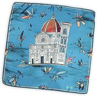 Santa Maria del Fiore foulard 70x70 cm pura seta made in Italy. Riproduce il Duomo di Firenze in versione artistica e flor...