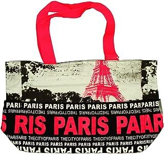 Paris Robin Ruth 'Eiffel Tower' Shopping Bag - Fuchsia, Black