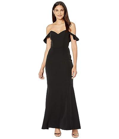 WAYF Gabriella Strapless Trumpet Gown (Black) Women