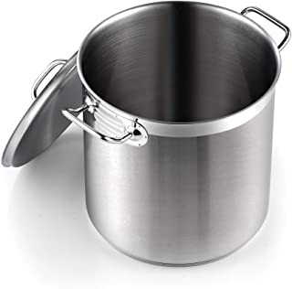 Cooks Standard Professional Grade Lid 11 Quart Stainless Steel Stockpot, Silver