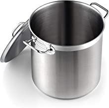 Cooks Standard 02615 Professional Grade Lid 11 Quart Stainless Steel Stockpot, Silver