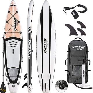 comprar comparacion THURSO SURF Tabla Paddle Surf Hinchable Expedition 350 x 76 x 15 cm Construcción de Dos Capas Deluxe Incluye Remo con Eje ...