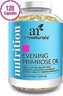 ArtNaturals Evening Primrose Oil Organic Capsules - (120 Softgels 1,000 mg) - Hormone Balance for Women - Menopause & PMS ...