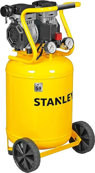 Compressore siltek verticale silenzioso 1 3hp stanley SXCMS1350VE