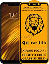 Xester Screen Protector for Xiaomi Poco F1,Tempered Glass Edge to Edge Full Screen Coverage with Easy installaition kit -[1 Pack]