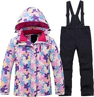 PENER Girls Boys Warm Thick Camouflage Ski Jackets Windproof Waterproof Snowsuit Set