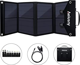 Aeiusny Solar Panel Foldable 60W Portable Solar Charger for Suaoki/Jackery/Webetop..