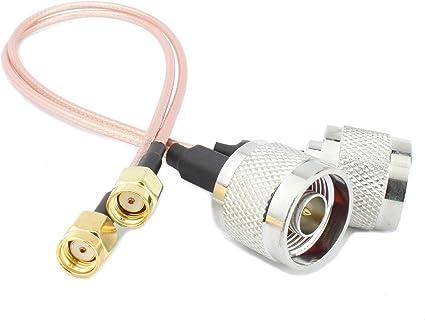Halo-Son 2 conectores RP SMA a conector tipo N de 25 cm ...