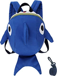 Jxh-Life Toddler Kids Leash Backpack Cute Shark with Safety Harness Anti-lost Leash and Chest Strap for Preschool Child - Blue