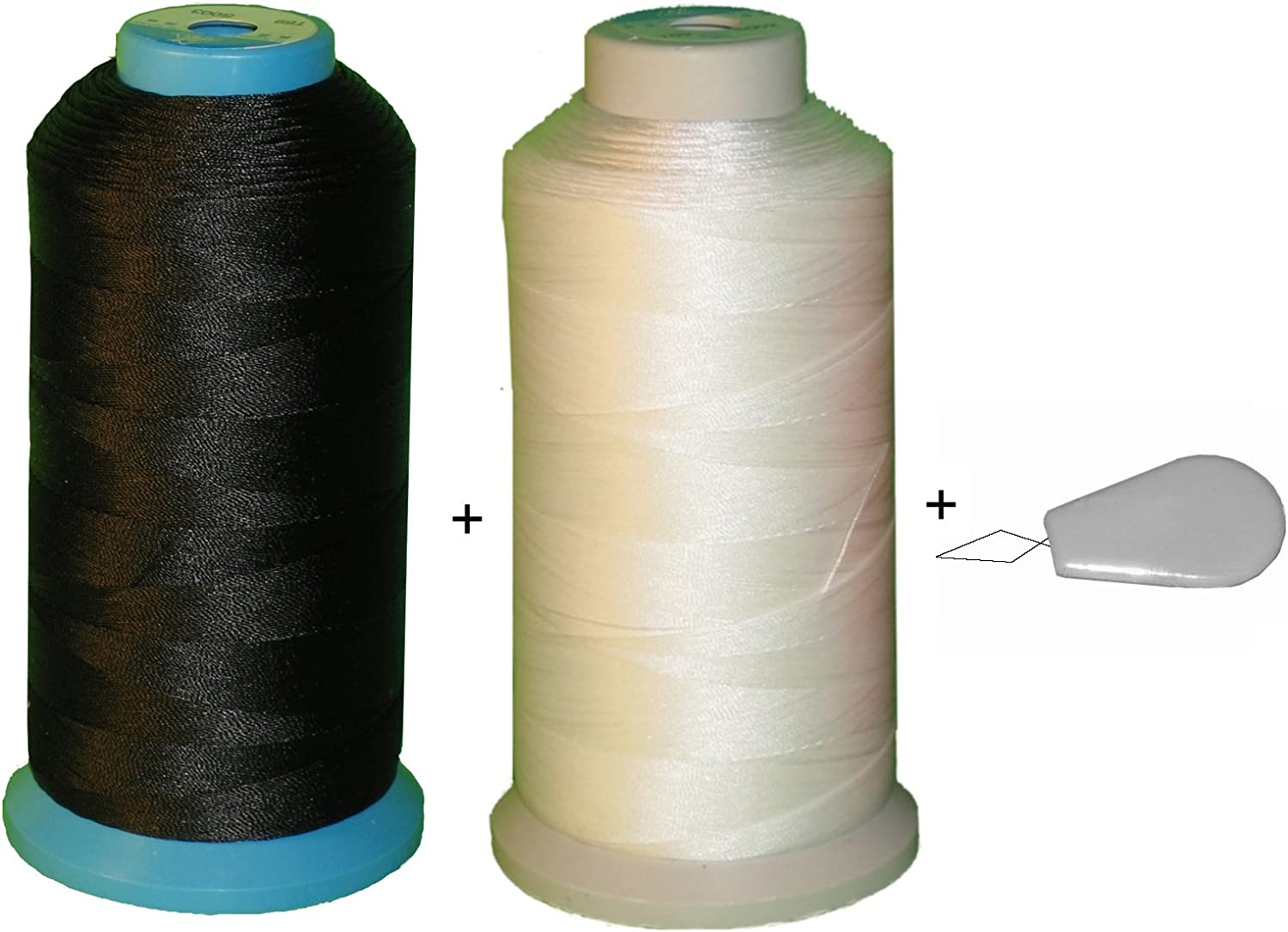 2 Spool Black White Color Bonded Size Sewing Translated V- New Orleans Mall Nylon Thread