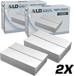 LD Compatible Postage Tape Double Sheet Replacement for Pitney Bowes 620-9 (300 Tapes, 2-Pack)