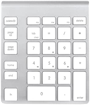 Newer Tech Bluetooth Aluminum Keypad, White (NWTKPA28BTW)