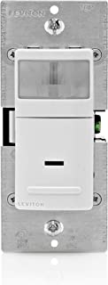 Leviton IPV15-1LZ Decora Vacancy Motion Sensor In-Wall Switch, Manual-On, 15A, Single Pole or 3-Way, White/Ivory/Light Almond