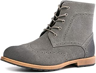 Mens Dress Boots Suede Black, Brown, Grey Winter Casual Shoes Size 7-13