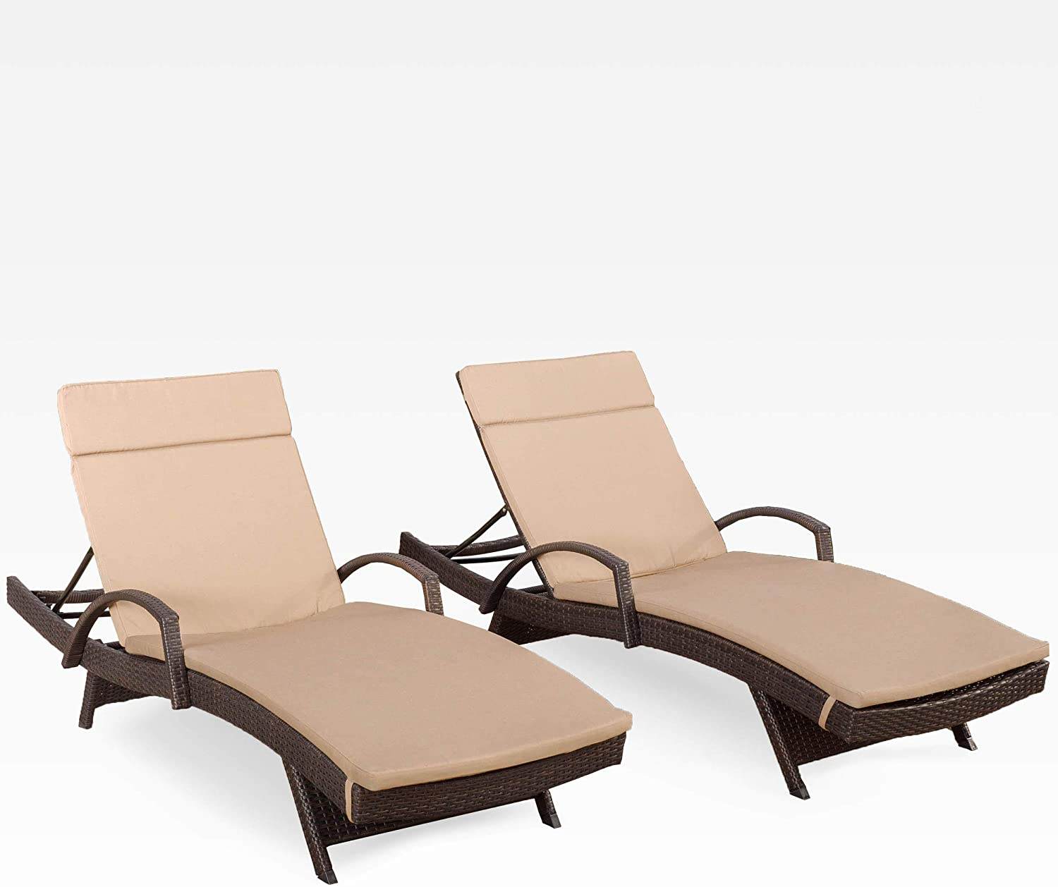 Christopher Knight Home Salem Outdoor Adjustable Wicker L outlet Chaise 5 ☆ very popular