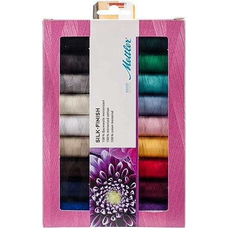 Mettler SFC18-KIT Silk Finish Cotton Thread Gift Pack 18/Pkg, White