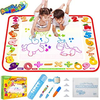 TECBOSS Magic Doodle Mat Large Reusable Water Drawing Board Coloring Painting Writing Art Supplies for Kids/Toddlers Gift ...