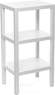 Tatay estantería Rectangular de 3 Alturas Blanco Acabado Efecto Madera. Medidas 38 x 29 x 735 cm