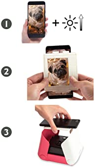 KiiPix Smartphone Picture Printer, Blue | Instantly Print Fun, Retro-Style Photos Right from Smartphone Screen | Port...