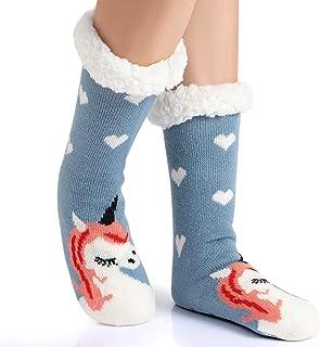 Tacobear, Mujeres Gruesos lana calcetines de piso casa abrigados animal calcetines de mujeres antideslizantes calcetines de alfombra Zapatillas de casa para Mujer