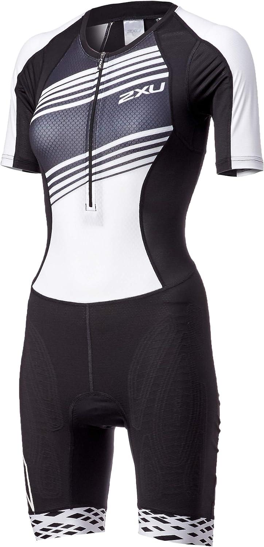 2XU damen damen damen Compression Full Zip Short Sleeve Trisuit schwarz Weiß Lines WT5521d B07N8SQV38  Schönes Aussehen cdc2b5