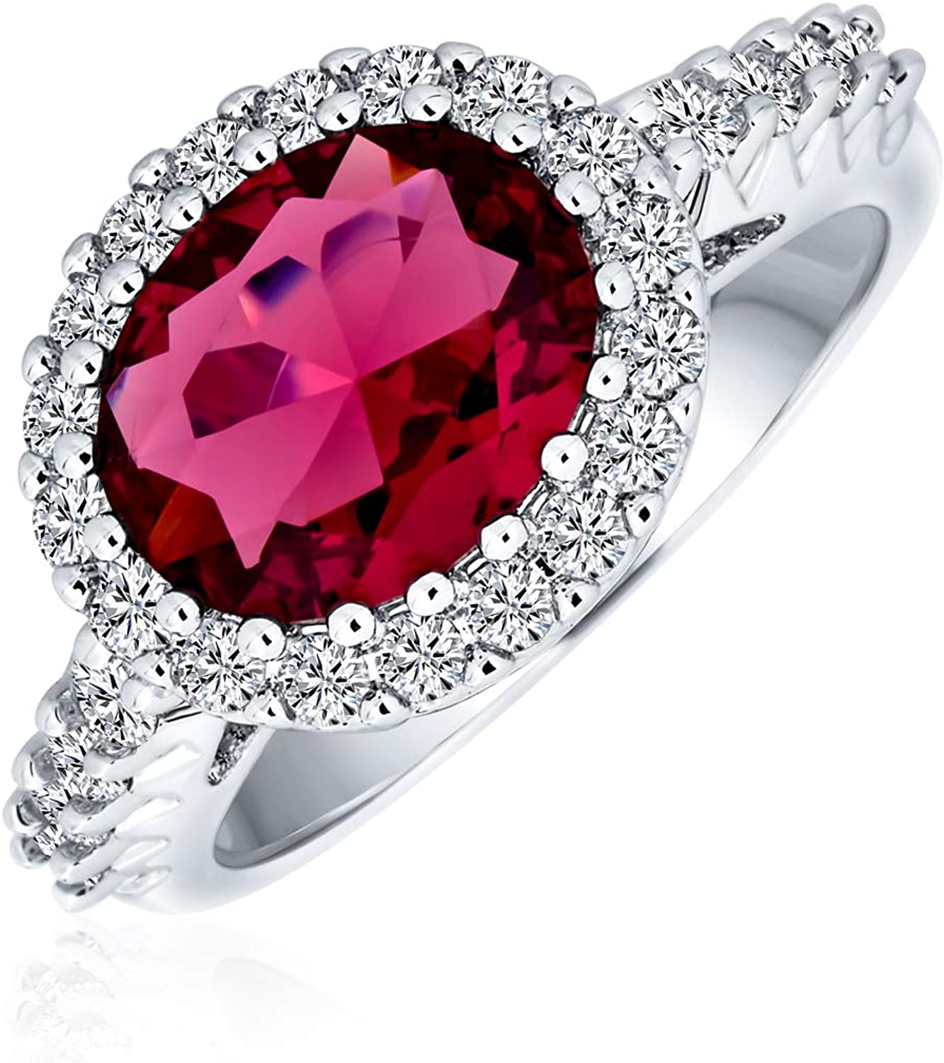 Bling Jewelry 3CT Oval Austin Mall Solitaire Zirconia Pave Simulate Cubic CZ Finally popular brand