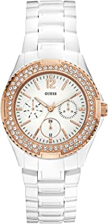 GUESS Women's U0062L6 Rose Gold-Tone Feminine Classic Watch
