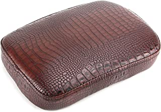 Oumurs Alligator Synthetic Leather Suction Cup Passenger Pillion Pad Seat Rectangle Cushion Pad for Harley Sporster XL 883 1200 Chopper Bobber Dyna Touring (6 Suction Cup Brown)
